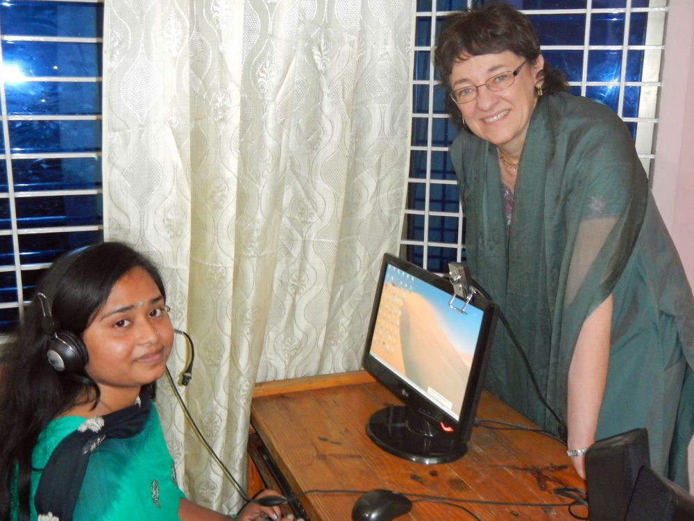 Bangladesh: Jane began a friendship with Fariha as an English conversation partner over Skype. What a delight to meet in person! More Info