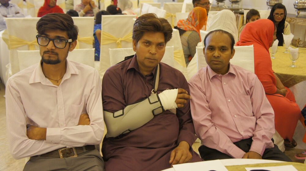 Pakistan: Several injured and affected members in the 2016 Easter Sunday bombing in Lahore, Pakistan, who attended OMs relief event. More Info