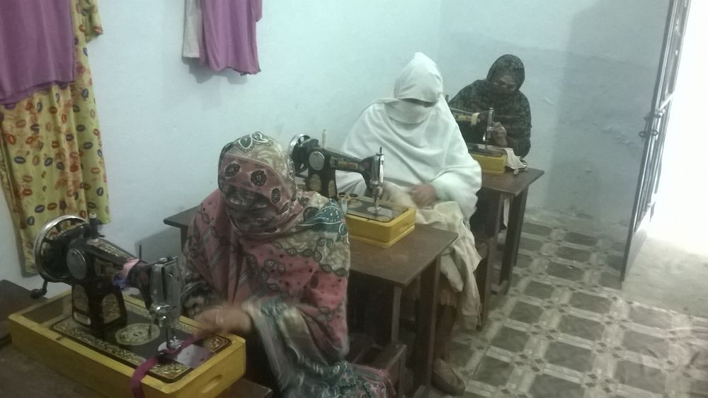 Pakistan: Women learning sewing skills at OMs centres to help provide an income for their families, which can open doors for social and financial stability for families. More Info