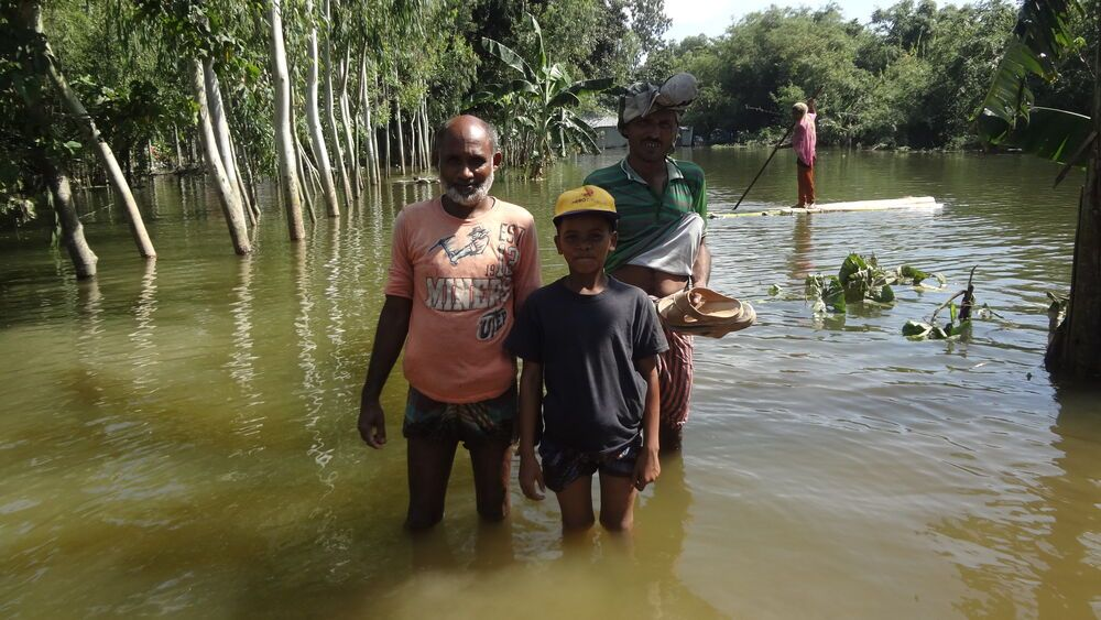 Bangladesh: What was once a road is now a river. Monsoon floods hit the poorest of the poor in Bangladesh. More Info