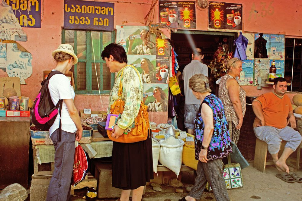 Browsing at the market – Tbilisi, Georgia