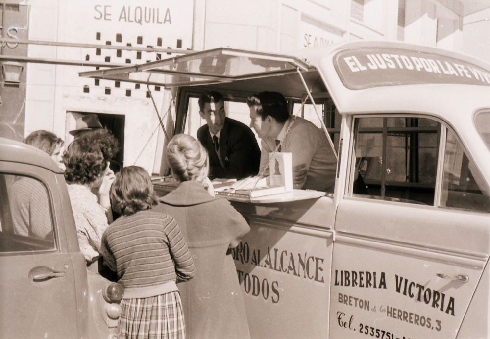 Spain: The book van was a creative way of distributing Christian literature in Spain in the early sixties. More Info