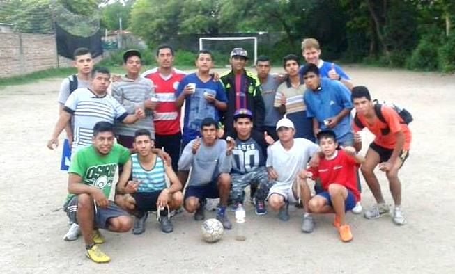 Young men from a rough area of Cordoba are discipled through weekly football.