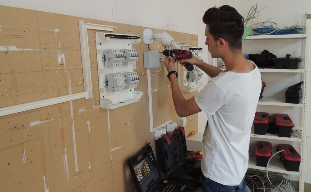 One of the students at a vocational skills project supported by OM Balkans
