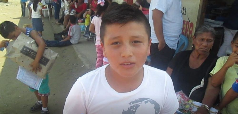 Ecuador: Jean Pierre is a 12 year old whose prayer for a soccer ball was answered by the Lord during the Christmas celebration. He lives in the La Estancia/Simón Bolívar community where the Earthquake Relief and Development Project of OM Ecuador has taken place. More Info