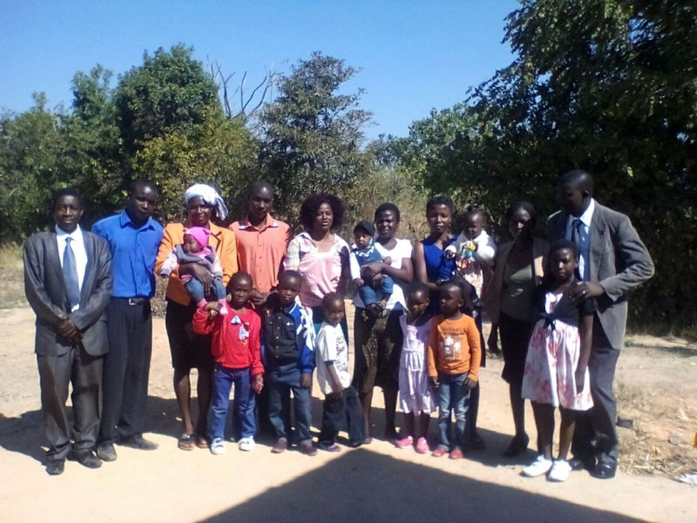 Members of a new church plant at Domboshava