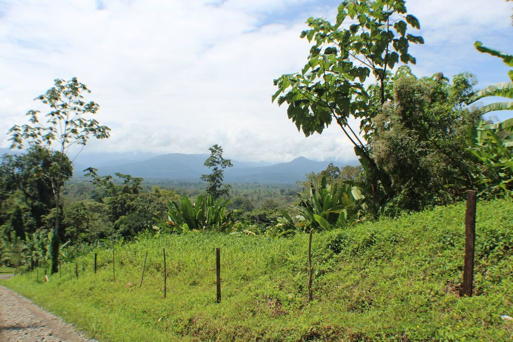 The view of the mountains in Panama from Talamanca, Costa Rica.