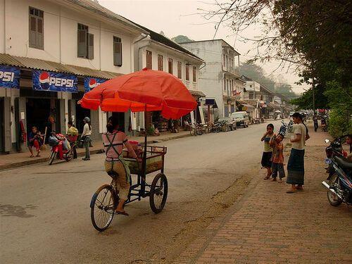 Laos: City street, Laos More Info