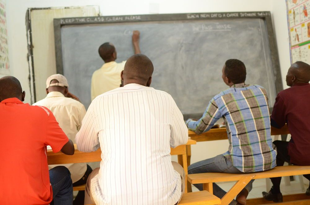 Teaching English class in Central-North Africa