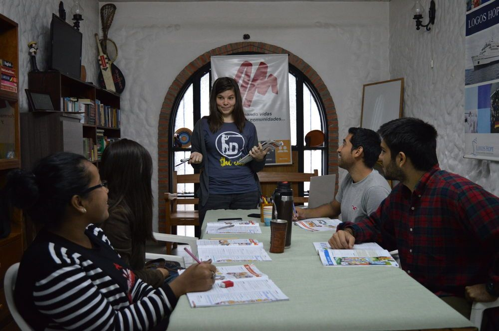 Paraguay: Deborah Krahn teaches English to missions-minded students at the OM base in Asunción, Paraguay. More Info