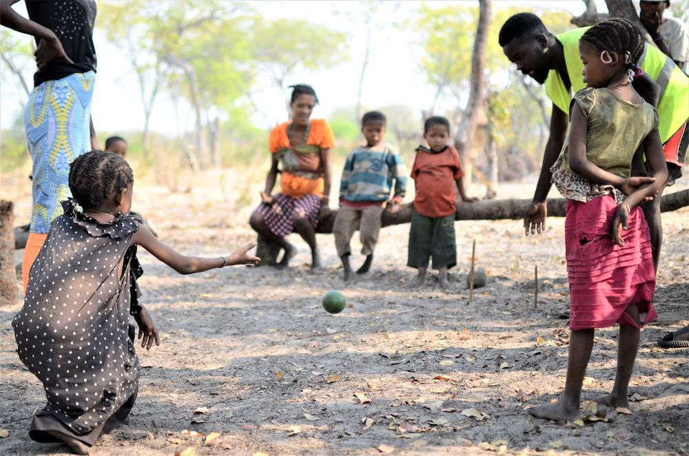 Angola: Every September, Wessel van der Merwe takes his missions training students on an outreach to the Bushmen, where they live with and teach the Bushmen biblical lessons. They also supply the Bushmen with clothes and other necessities. More Info
