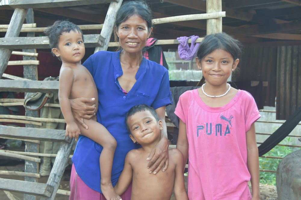 Cambodia: OM MTI helps to build a simple house for a Cambodian family of 10 in need. More Info