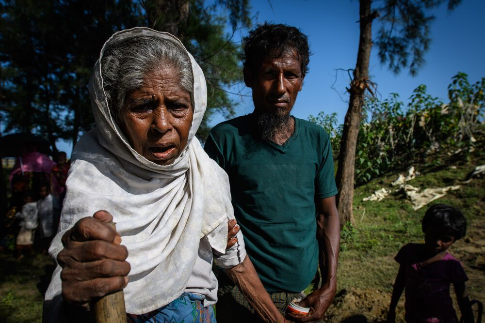 Bangladesh: Nural was beaten by soldiers when he stayed behind to save his 104-year-old mother. Photo by Garrett N. More Info