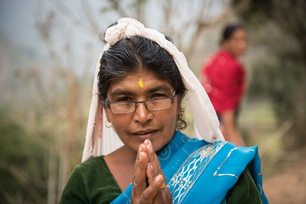 South Asia: A Hindu Nepali woman on the back roads of Nepal. More Info