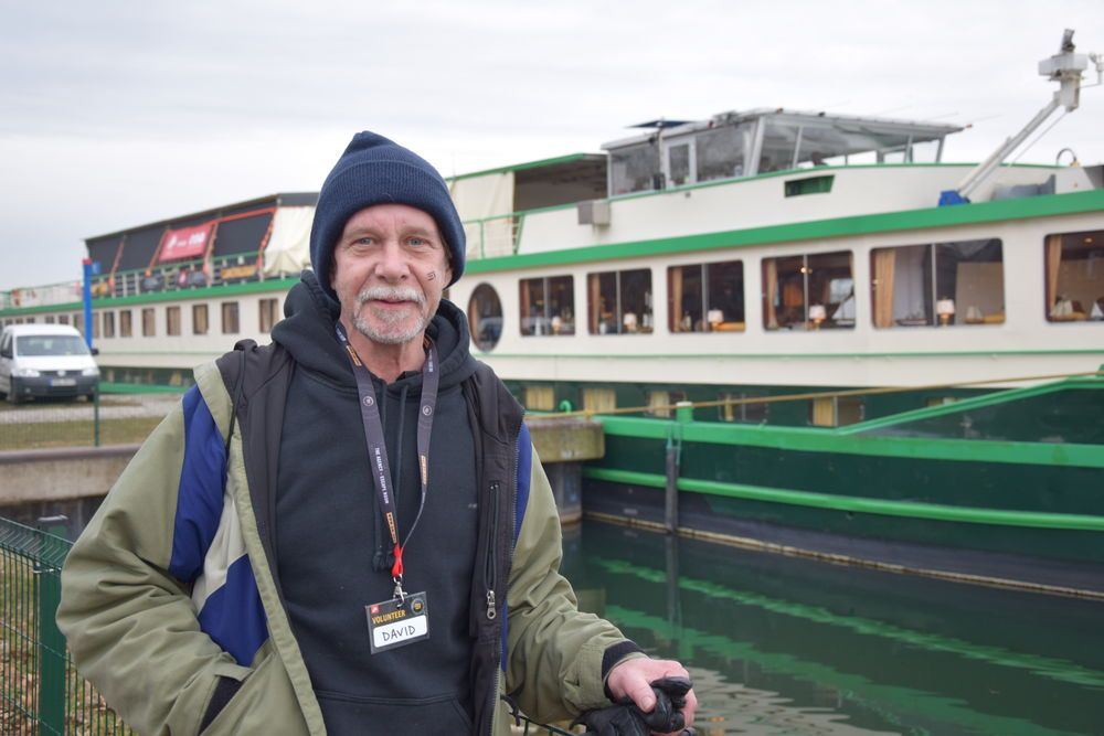 While the Riverboat is visiting Strasbourg in France, there are 32 port volunteers from around the world serving on board for two weeks ? an initiative by OM France to open up the opportunity globally for people to experience missions in France. One of these volunteers is David Sisler, from New Jersey. His role on the Riverboat is to act as a homeless man in the onshore segment of The Agency experience. David has a script to guide his acting, but in reality, he is acting out a familiar life that he used to lead.