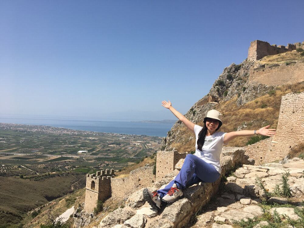Fion Lau in Greece