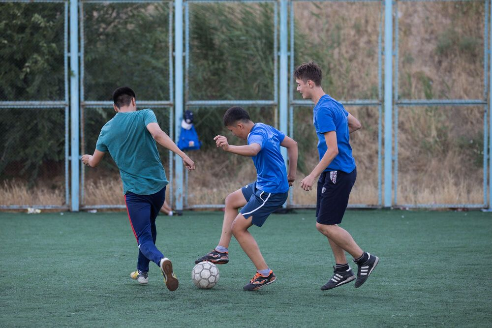 Sports opens doors for relationship and discipleship in Central Asia. Photo by Jay