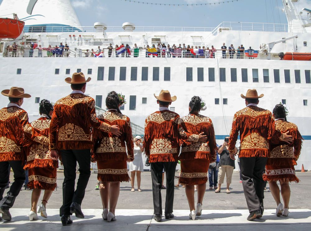 Mexico: Tampico, Mexico :: The port welcomes Logos Hopes arrival with a traditional dance. More Info