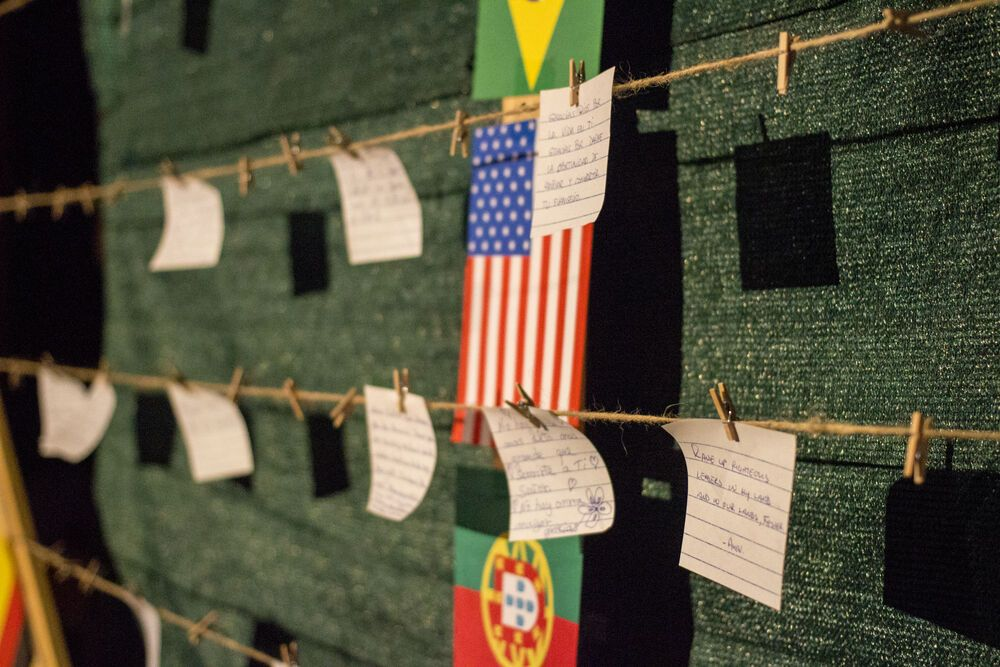 Spain: At Transform 2018 a heart made of wood and twine with the flags of countries all over the globe waited for prayers to be hung.  Where is God asking you to pray for? More Info
