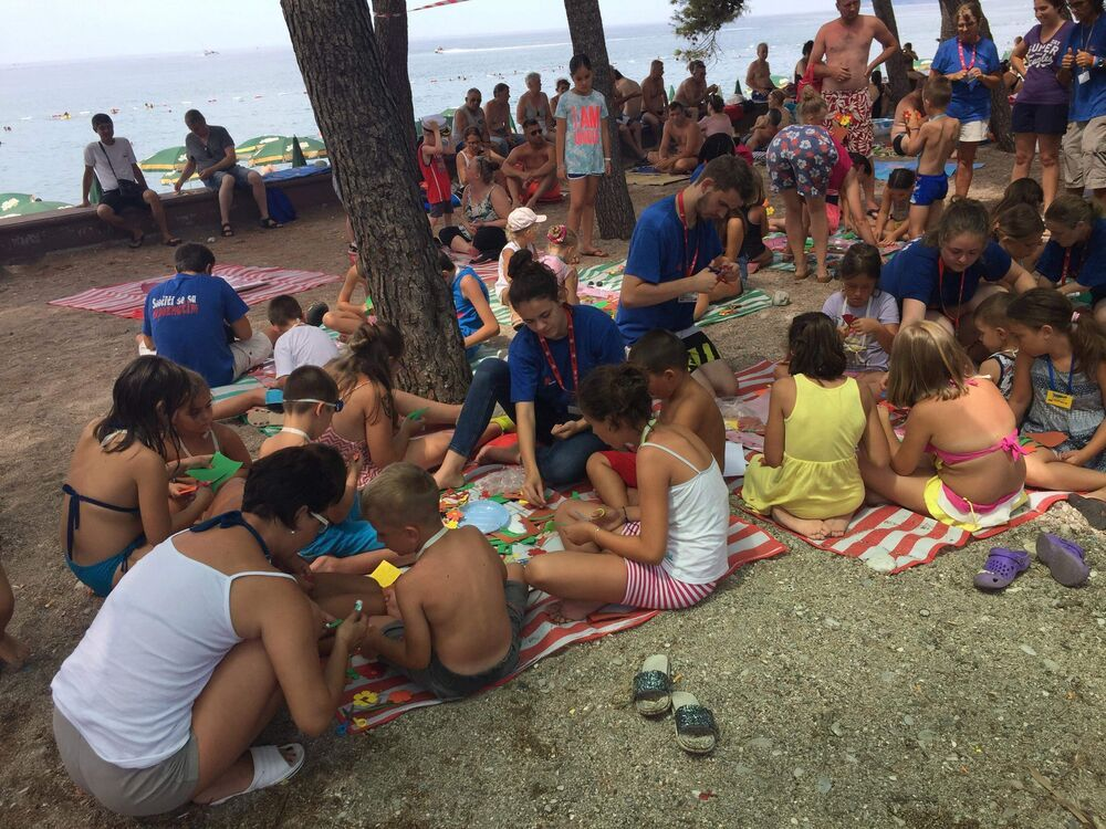 OM Montenegros Bible-themed Beach Club is very popular every August with kids and families on holiday