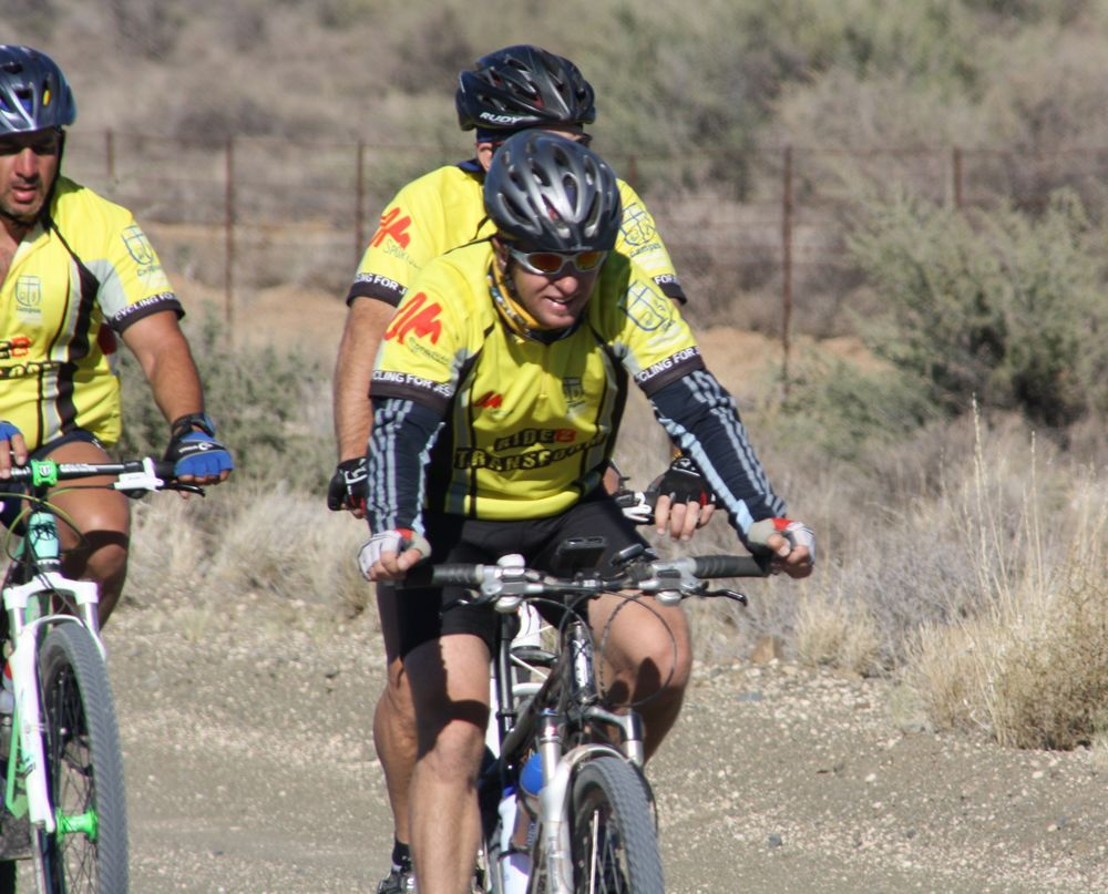 There have been several cycling outreaches over the years, this is from South Africa 2014.