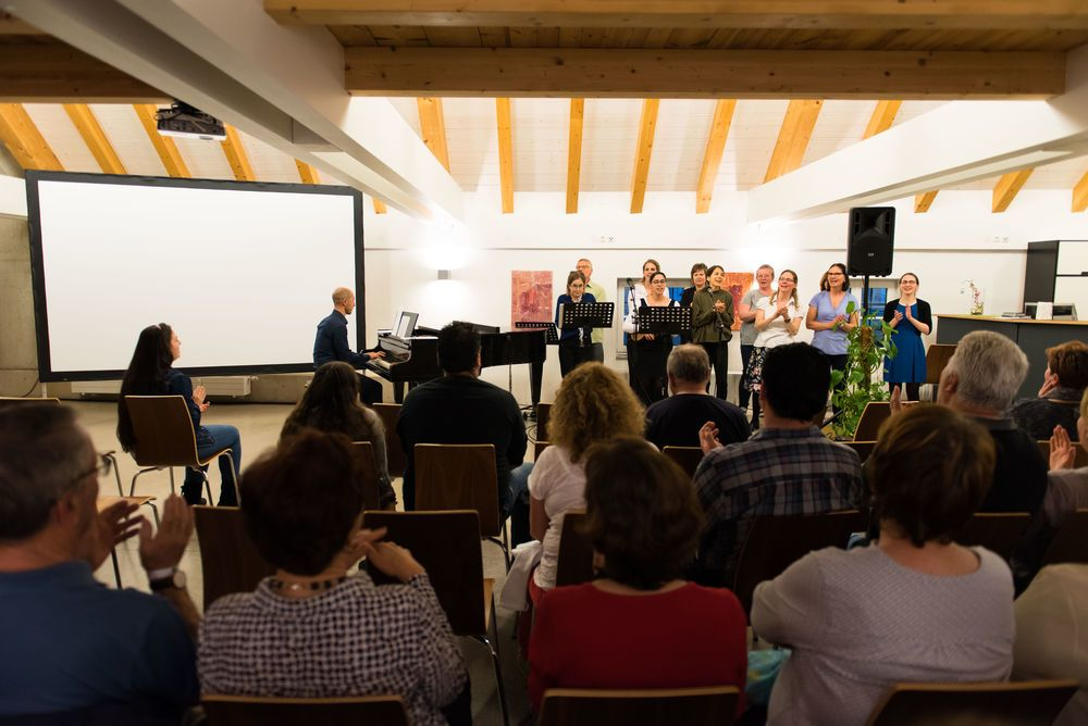 Sharing about the message of Easter and the resurrection with music in Austria.