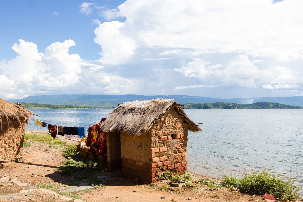 Zambia: The view from around Crocodile Island on Lake Tanganyika, Zambia. The island is named for its shape. Photo by Rebecca Rempel. More Info