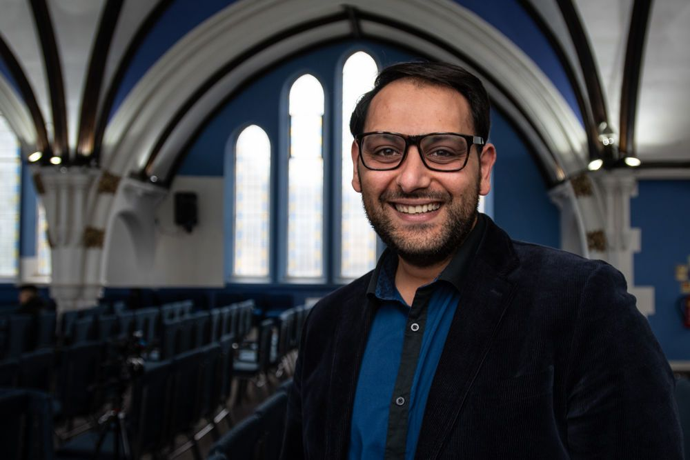 OM worker Deniz Muletarov partners with a Turkish church plant in the UK, encouraging believers through preaching and worship in addition to daily ministry.  Photo by Garrett N.