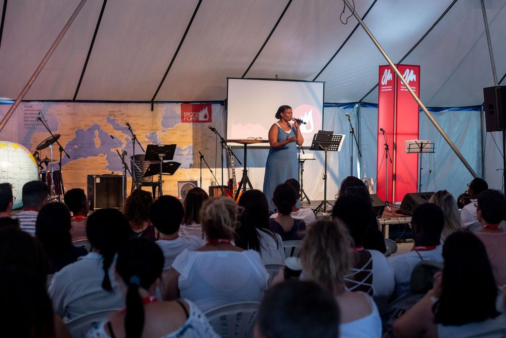 South Africa: Esther Banzi (South Africa) at Transform in Greece. Esther is part of the leadership team for Transform; organising workshops and emceeing the conference. Photo by Rebecca Rempel More Info