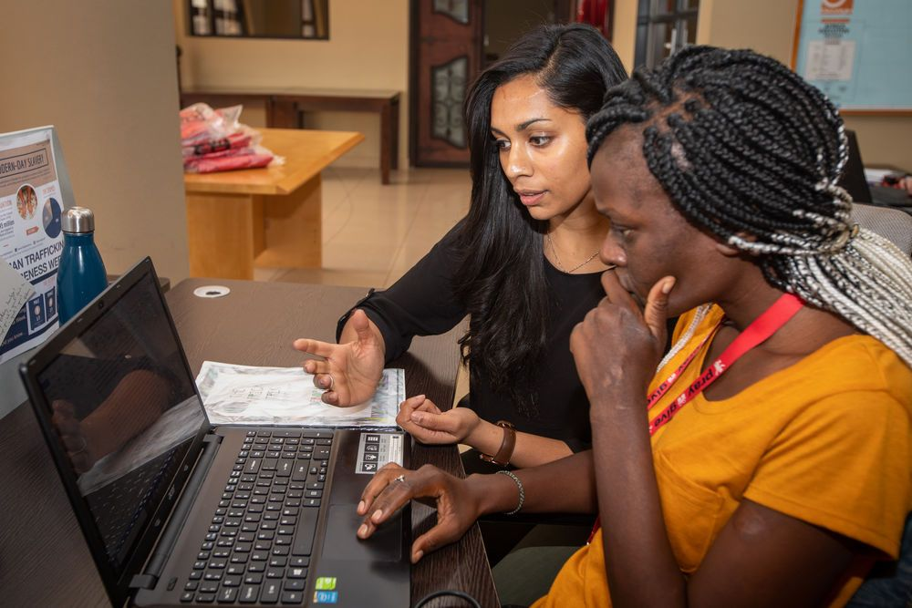 South Africa: Vinitha Rodwell, centre, mentoring an Africa Trek intern. Vinitha and her husband, (both from Australia) lead the Africa Trek and are passionate about equipping young people to be leaders and disciple-makers. Photo by Rebecca Rempel. More Info