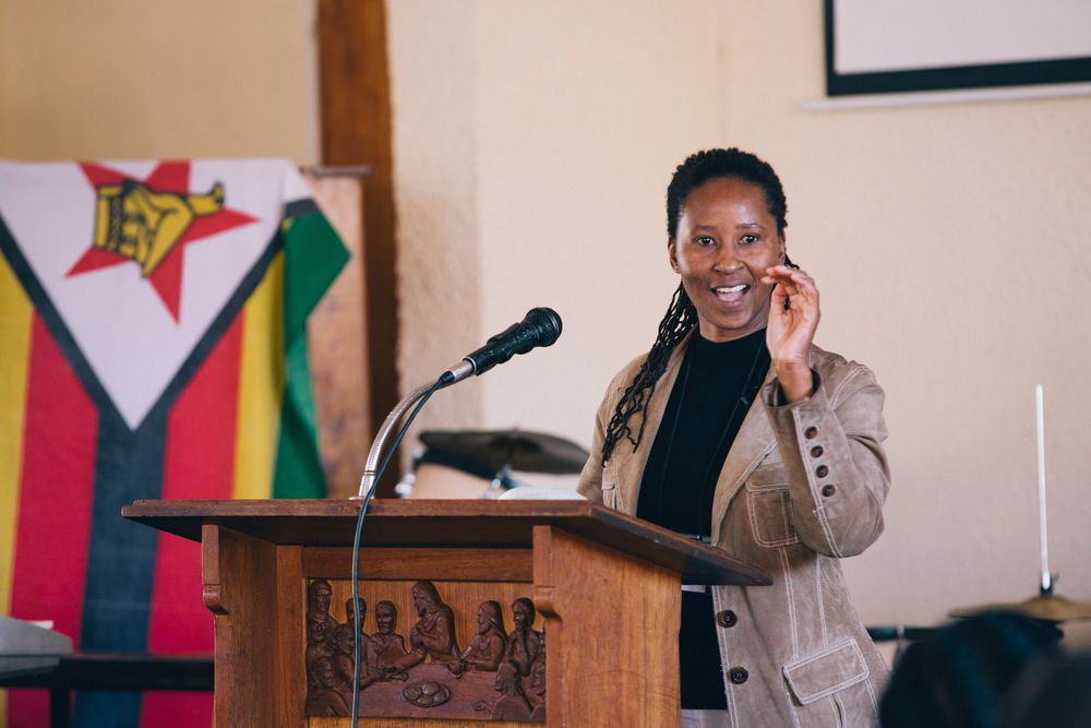 OM in Zimbabwe Fielder Leader, Jessica Shumba  preaches during Go Challenge Conference