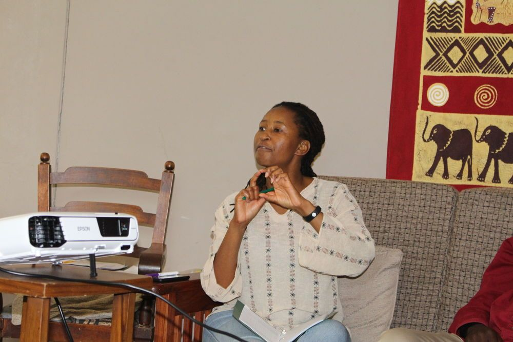 Zimbabwe: Jessica Shumba stresses a point during a discussion More Info