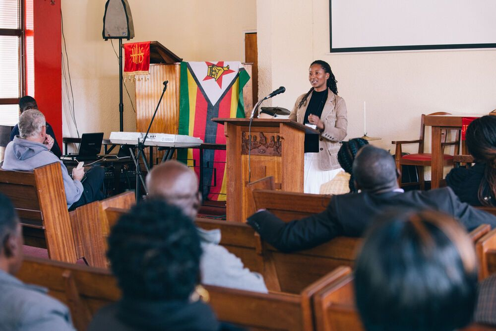 Jessica Shumba preaching at Go Challenge Conference