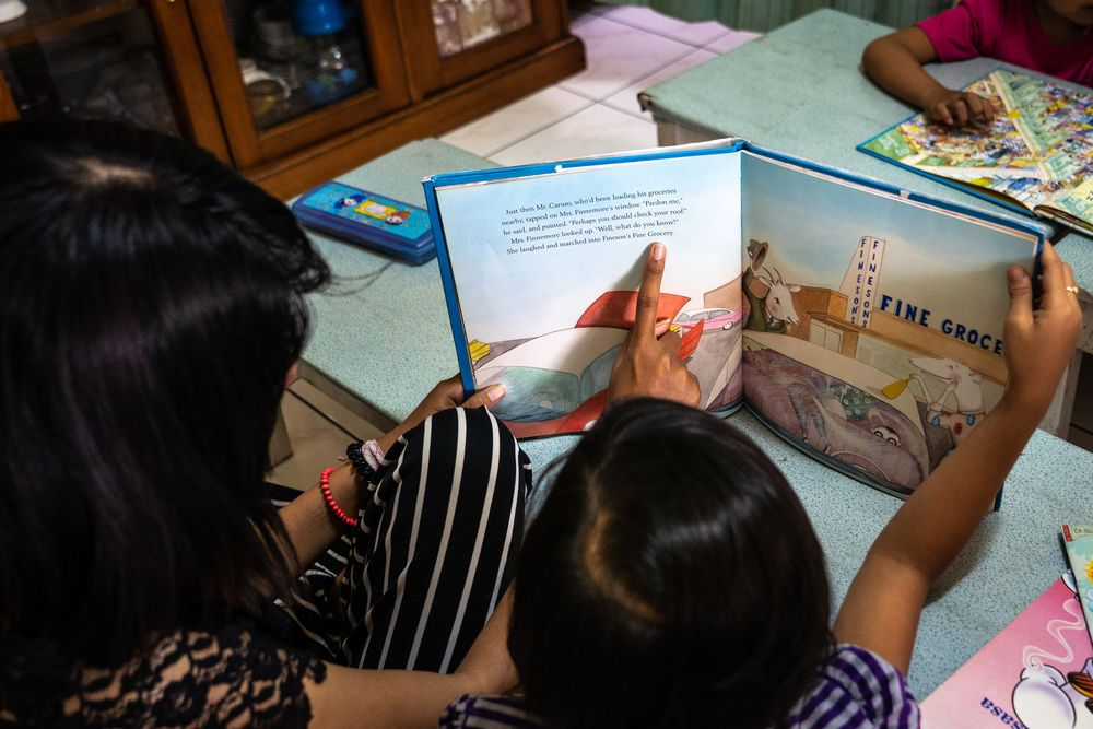 South East Asia: children are being taught in english More Info