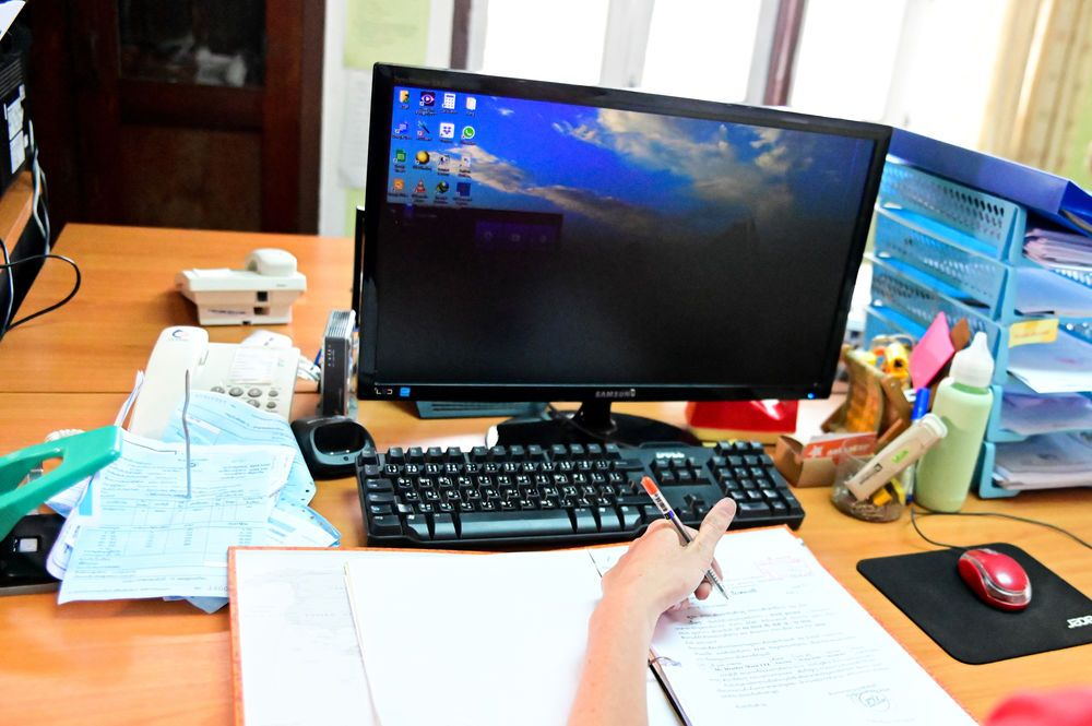 South East Asia: Office staff working at the office. More Info
