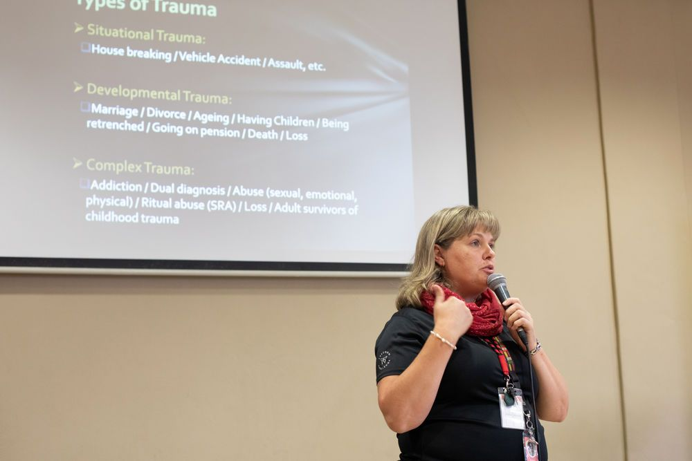 South Africa: Annelize (South Africa) speaks at a Traffic Wise training. Traffic Wise is a ministry of Freedom Challenge. More Info