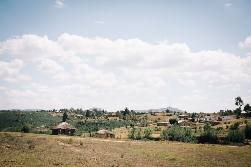 A small village in Lesotho. Lesotho is a small mountainous country completely surrounded by South Africa. Photo by Doseong Park.