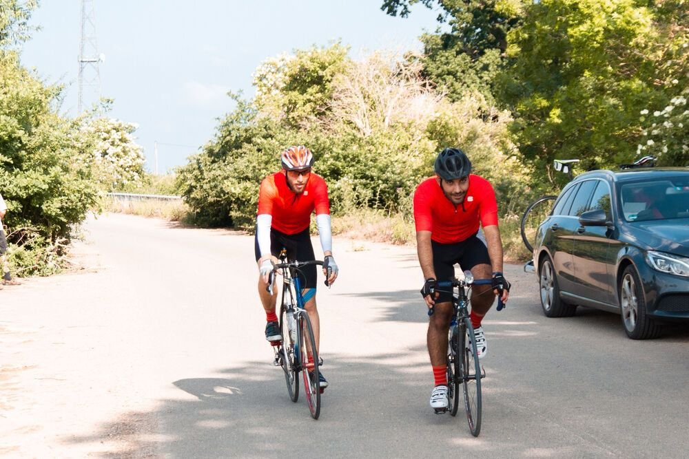Cyclists spent 20 hours a day on the road during the 1,000 km Coronaride, a trek across Germany to raise funds for those impacted by the Coronavirus. Photo by Antonia Leanne (used with permission by Kontakt Mission)