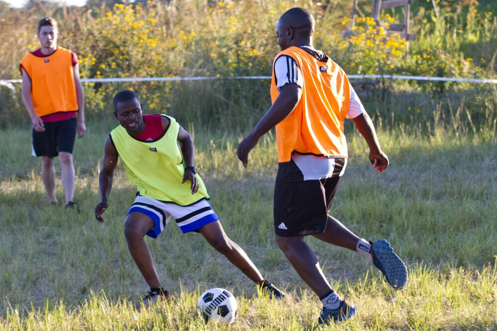 Zambia: Simon (Zambia) has a passion for using sports to reach out to people and show them Christs love. Photo by Rebecca Rempel. More Info