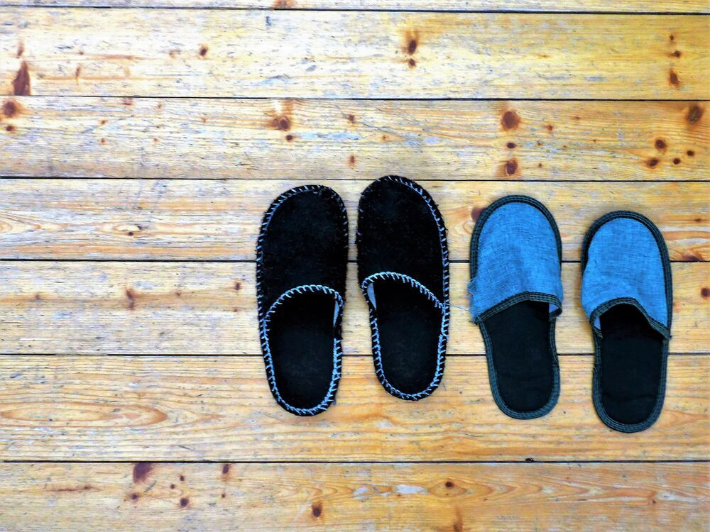 A pair of Austrian house slippers. Photo by Inger.