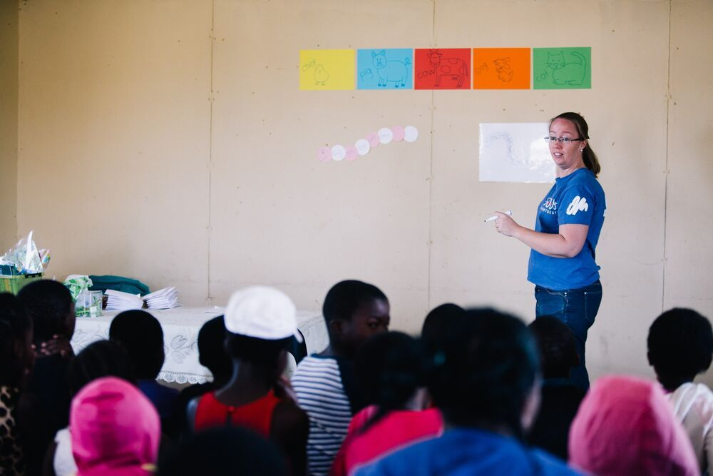 South Africa: Marleen leads the Reading Holiday Club. Photo by DoSeong Park. More Info