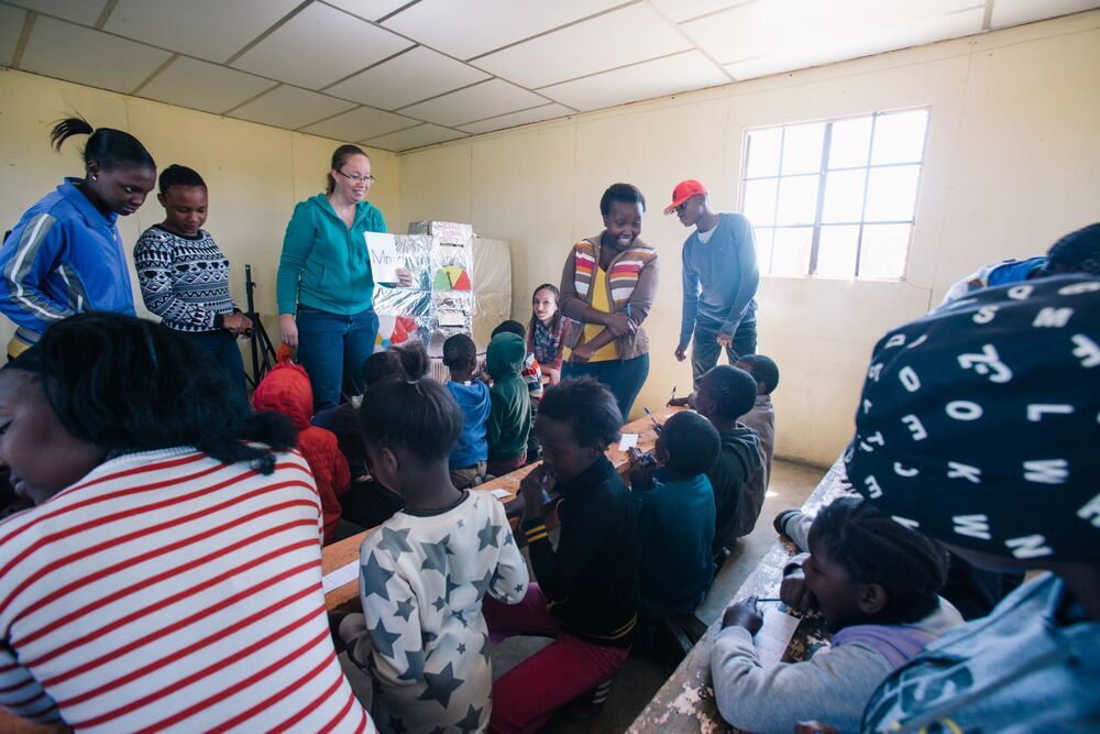 South Africa: Marleen leads the Reading Holiday Club.