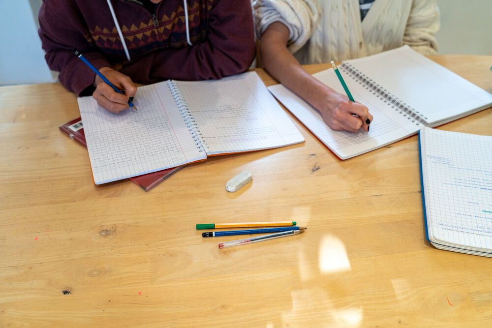 North Africa: Two young women do their homework. Photo by Rebecca Rempel. More Info