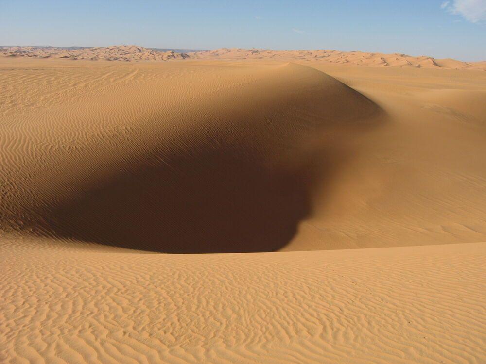 A sandy landscape.