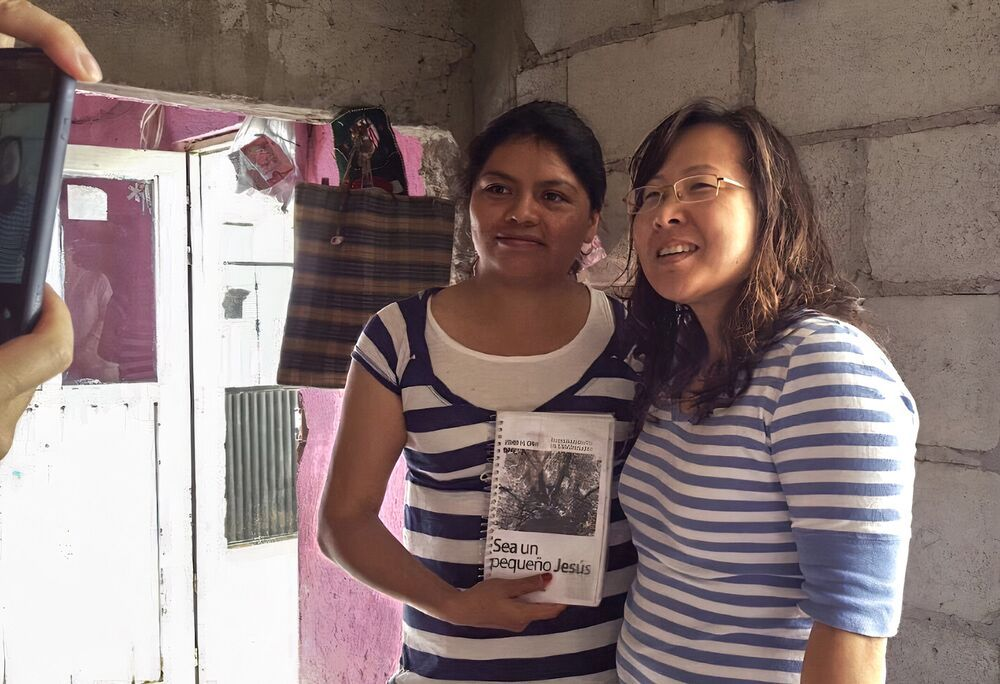 Mexico: Flor and Serah smile for the camera. More Info