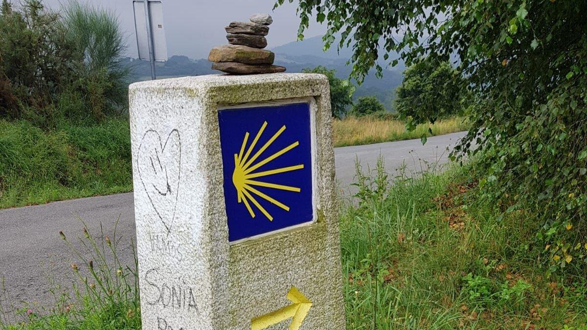 St James Way, follow the sign posts.
