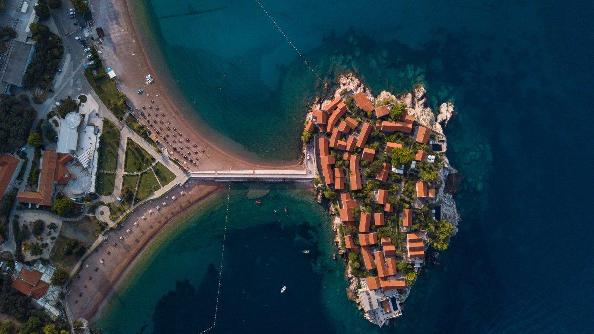 Drone image of an island - Photo by Garrett N