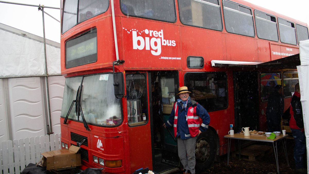 Ploughing with the Big Red Bus