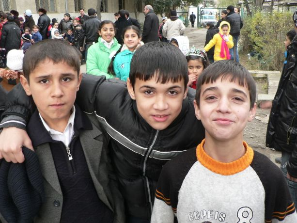 Caucasus: Three boys from the Caucasus region More Info