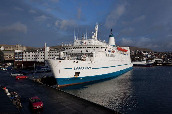 Faroe Is.: Tórshavn, Faroe Islands  ::  The vessel at its berth in its port of registry. More Info